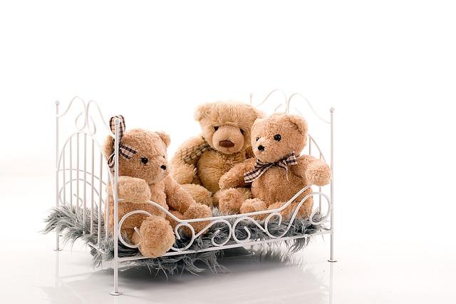 medvídkové v posteli