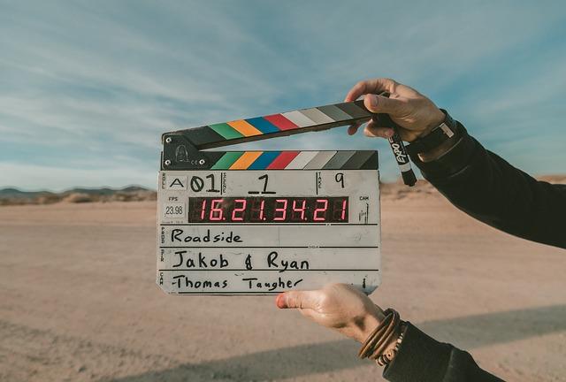 klapka u natáčení