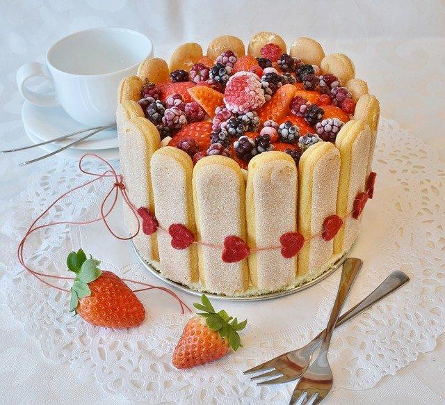 dortík s jahodami