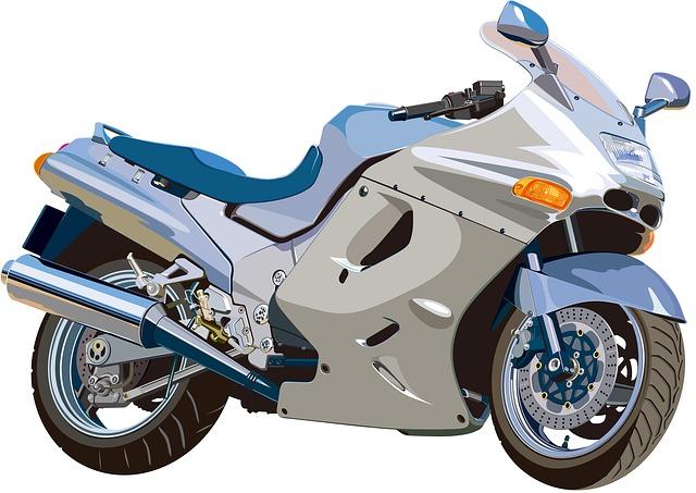 stříbrná motorka