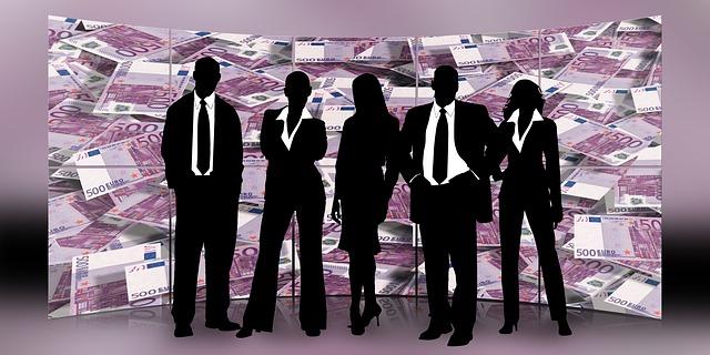 siluety podnikatelů