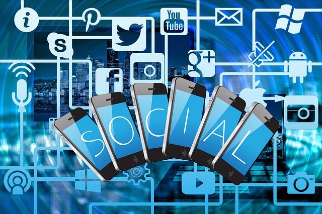 internet – ikony sociálních médií