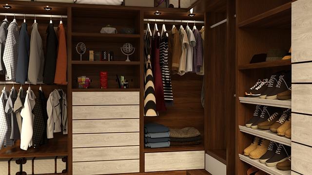 skříňky a další úložné prostory