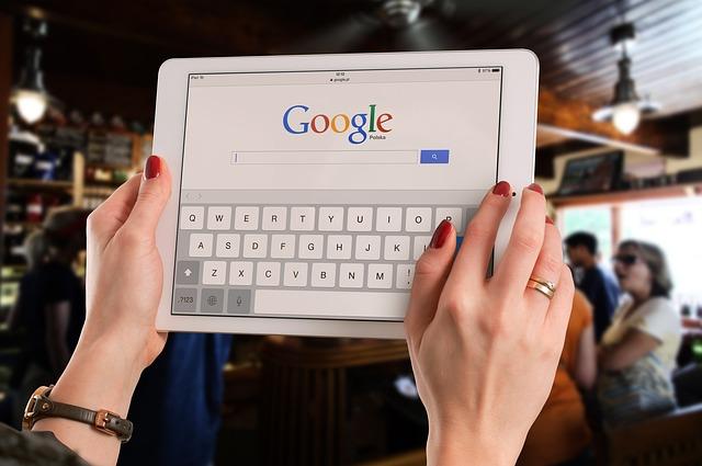 Google web v tabletu