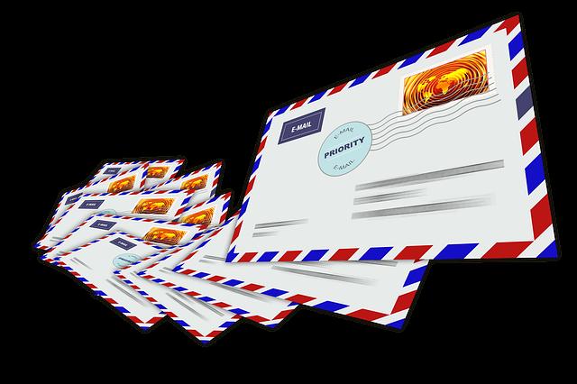 poštovní dopisy