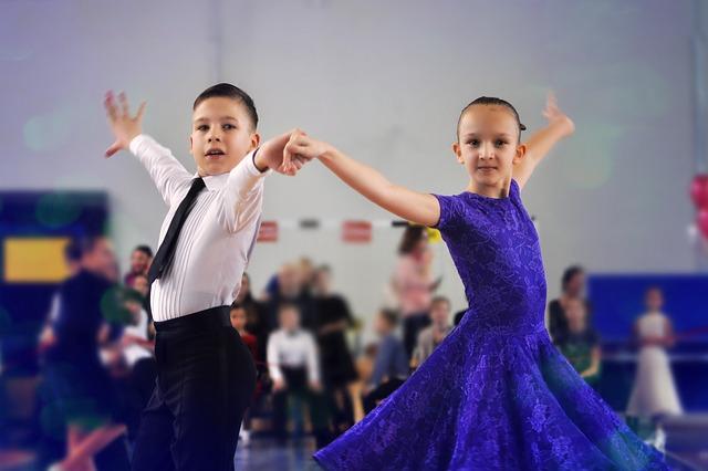 dětské vystoupení na plese